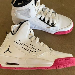 Jordan's flight sneakers. Boys size 5